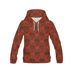 Skull20170501_by_JAMColors All Over Print Hoodie for Women (USA Size) (Model H13)