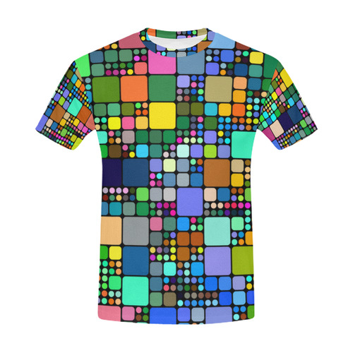Continuous Square Mosaic Pattern All Over Print T-Shirt for Men (USA Size) (Model T40)
