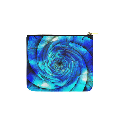Galaxy Wormhole Spiral 3D - Jera Nour Carry-All Pouch 6''x5''