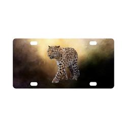 A magnificent painted Amur leopard Classic License Plate