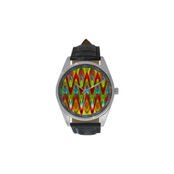 2D Wave #1A - Jera Nour Men's Casual Leather Strap Watch(Model 211)