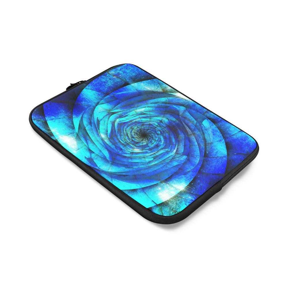 Galaxy Wormhole Spiral 3D - Jera Nour Custom Laptop Sleeve 14''