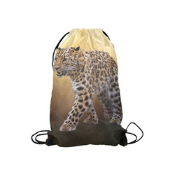 "A magnificent painted Amur leopard Small Drawstring Bag Model 1604 (Twin Sides) 11""(W) * 17.7""(H)"