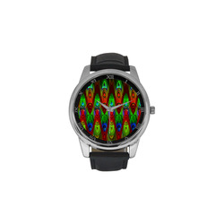 2D Wave #1B - Jera Nour Men's Leather Strap Large Dial Watch(Model 213)