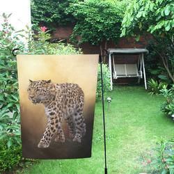 A magnificent painted Amur leopard Garden Flag 12''x18''(Without Flagpole)