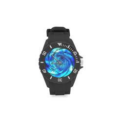 Galaxy Wormhole Spiral 3D - Jera Nour Sport Rubber Strap Watch(Model 301)