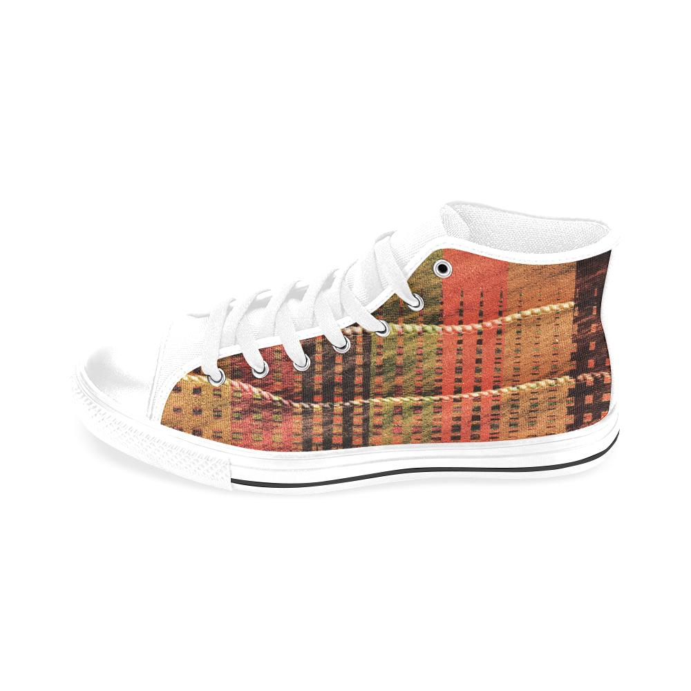 Batik Maharani #6 - Jera Nour Men's Classic High Top Canvas Shoes /Large Size (Model 017)