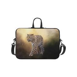 """A magnificent painted Amur leopard Laptop Handbags 10"""""""