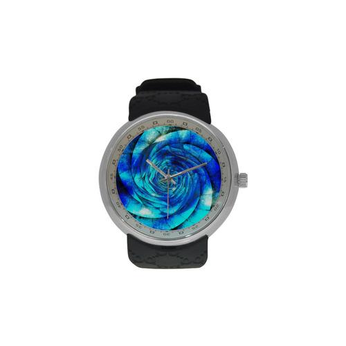 Galaxy Wormhole Spiral 3D - Jera Nour Men's Resin Strap Watch(Model 307)
