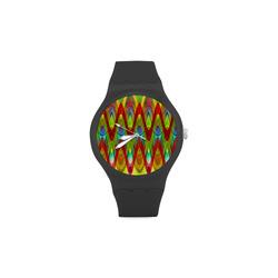 2D Wave #1A - Jera Nour Unisex Round Rubber Sport Watch(Model 314)