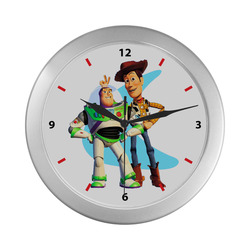 Buzz and Woody Silver Color Wall Clock