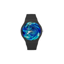 Galaxy Wormhole Spiral 3D - Jera Nour Unisex Round Rubber Sport Watch(Model 314)