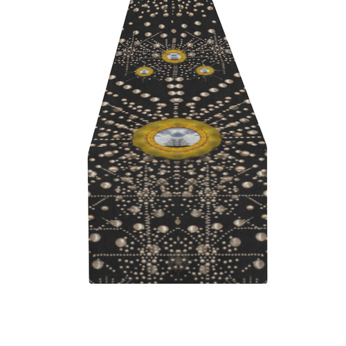 Lace of pearls in the earth galaxy Table Runner 16x72 inch