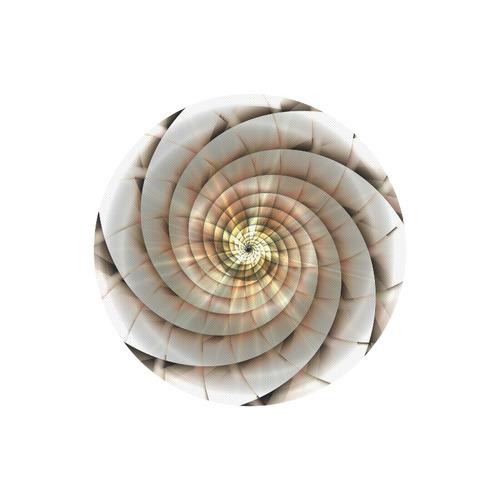Spiral Eye 3D - Jera Nour Round Mousepad