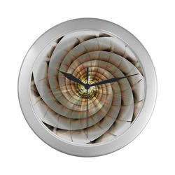 Spiral Eye 3D - Jera Nour Silver Color Wall Clock