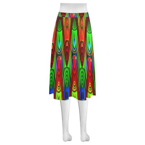 2D Wave #1B - Jera Nour Mnemosyne Women's Crepe Skirt (Model D16)