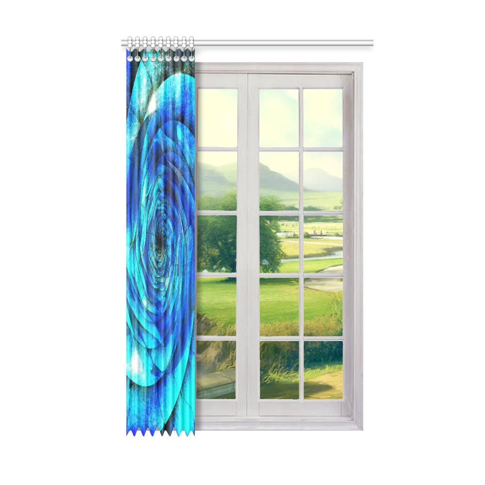"Galaxy Wormhole Spiral 3D - Jera Nour Window Curtain 50"" x 84""(One Piece)"