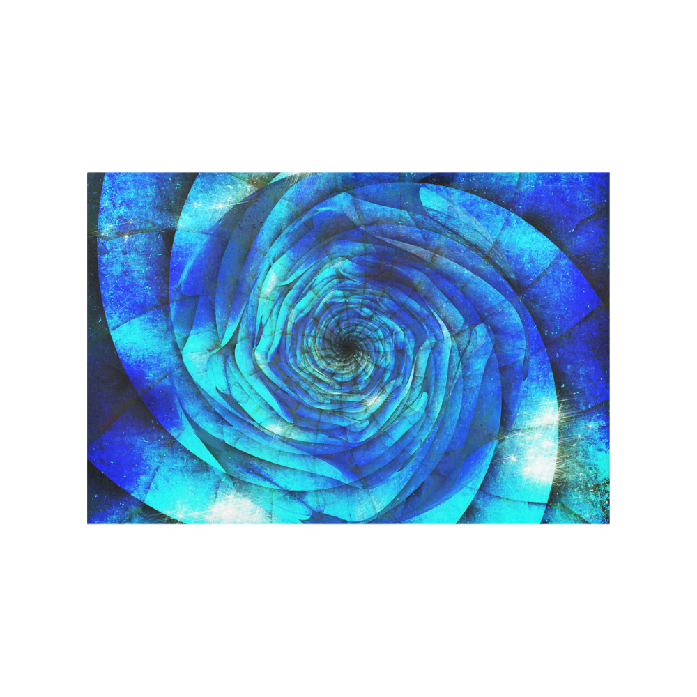 Galaxy Wormhole Spiral 3D - Jera Nour Placemat 12'' x 18'' (Two Pieces)