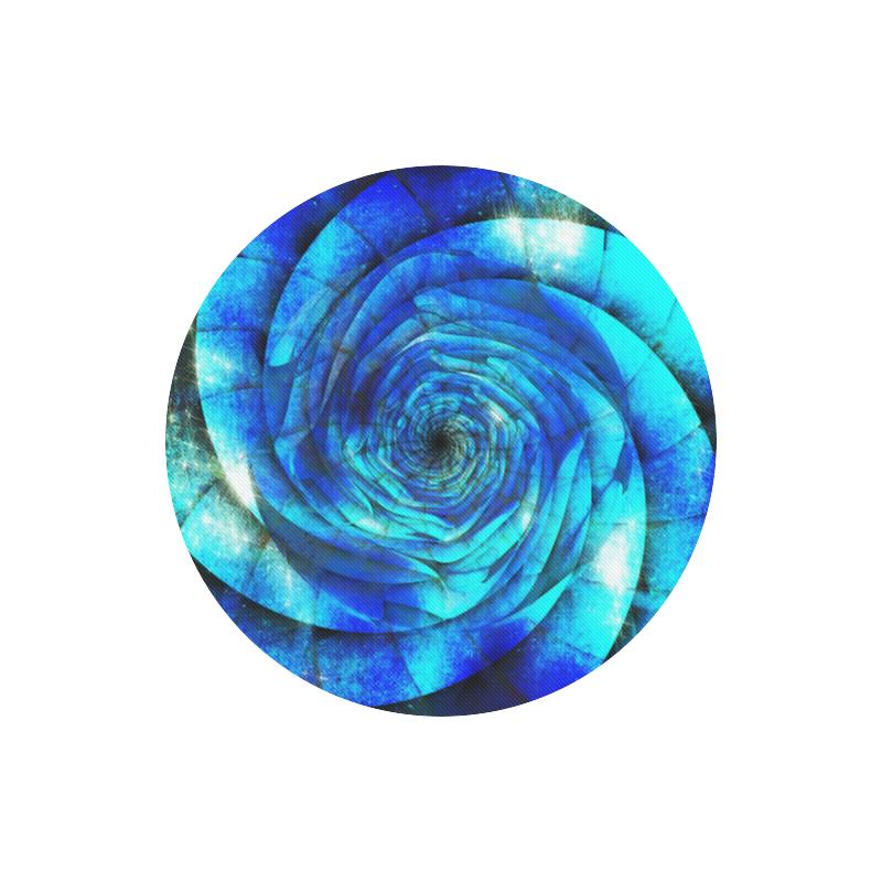 Galaxy Wormhole Spiral 3D - Jera Nour Round Mousepad