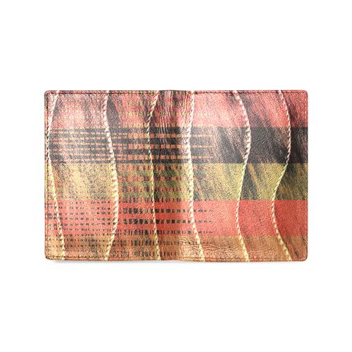 Batik Maharani #6 Vertical - Jera Nour Men's Leather Wallet (Model 1612)