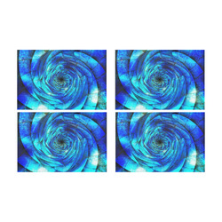 Galaxy Wormhole Spiral 3D - Jera Nour Placemat 12'' x 18'' (Four Pieces)