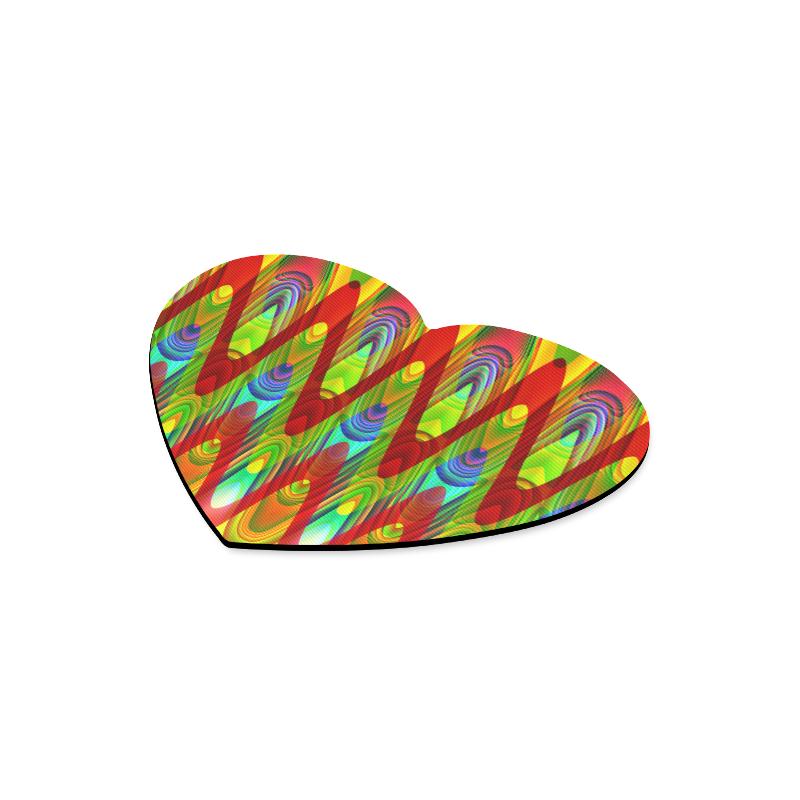 2D Wave #1A - Jera Nour Heart-shaped Mousepad