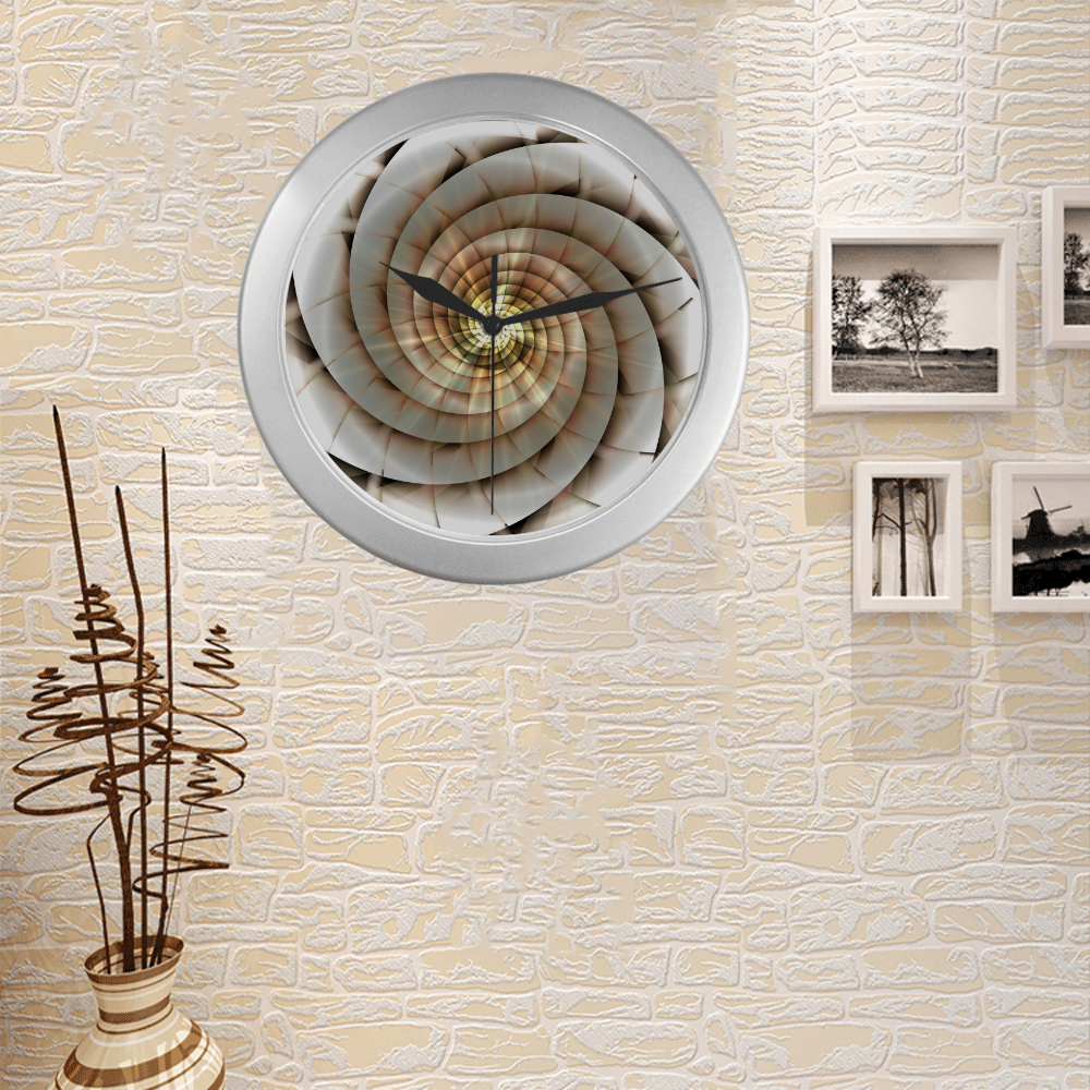 Spiral Eye 3D - Jera Nour Silver Color Wall Clock