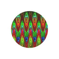 2D Wave #1B - Jera Nour Round Mousepad