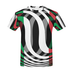 The Flag of Italy All Over Print T-Shirt for Men (USA Size) (Model T40)