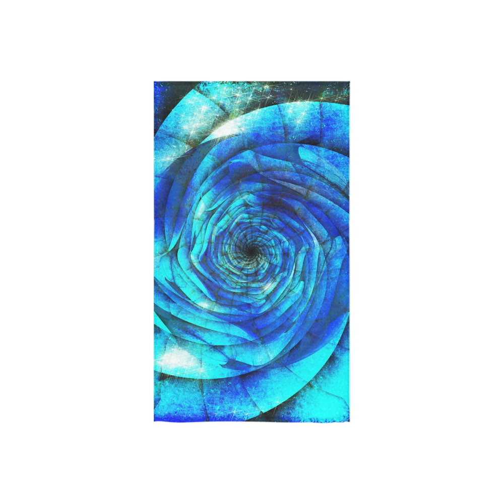 "Galaxy Wormhole Spiral 3D - Jera Nour Custom Towel 16""x28"""