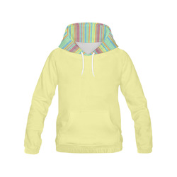 Retro Primitive Grunge Stripe All Over Print Hoodie for Women (USA Size) (Model H13)
