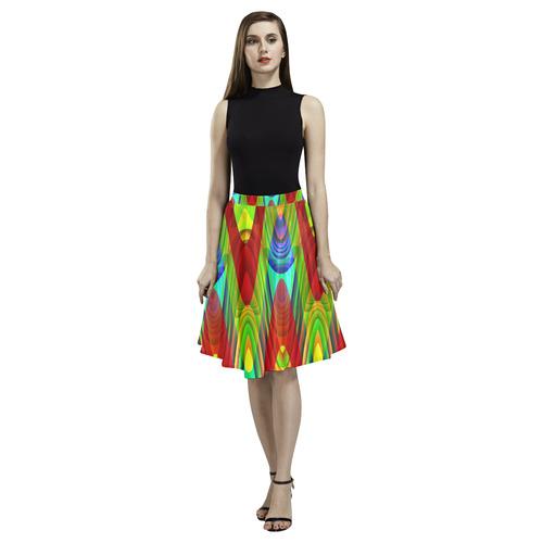 2D Wave #1A - Jera Nour Melete Pleated Midi Skirt (Model D15)