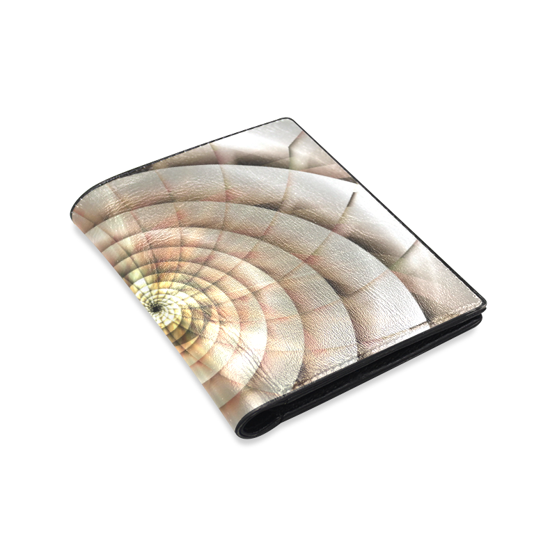 Spiral Eye 3D - Jera Nour Men's Leather Wallet (Model 1612)