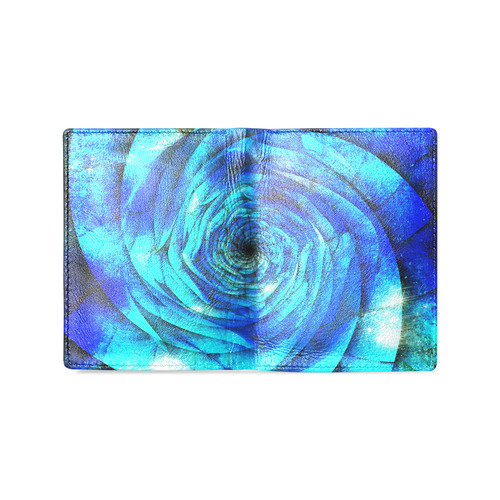 Galaxy Wormhole Spiral 3D - Jera Nour Men's Leather Wallet (Model 1612)