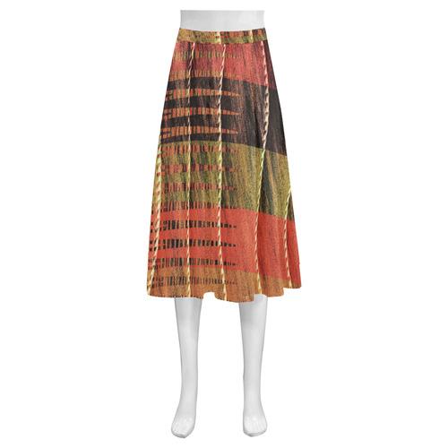Batik Maharani #6 Vertical - Jera Nour Mnemosyne Women's Crepe Skirt (Model D16)