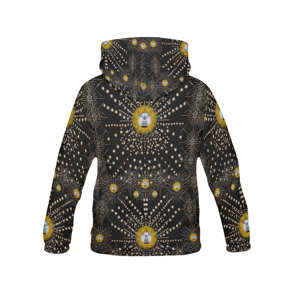 Lace of pearls in the earth galaxy All Over Print Hoodie for Women (USA Size) (Model H13)