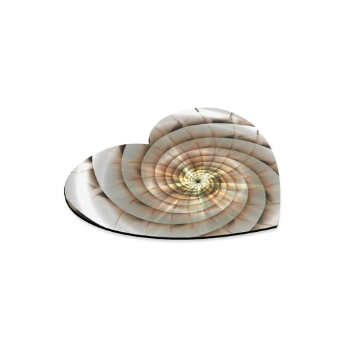 Spiral Eye 3D - Jera Nour Heart-shaped Mousepad