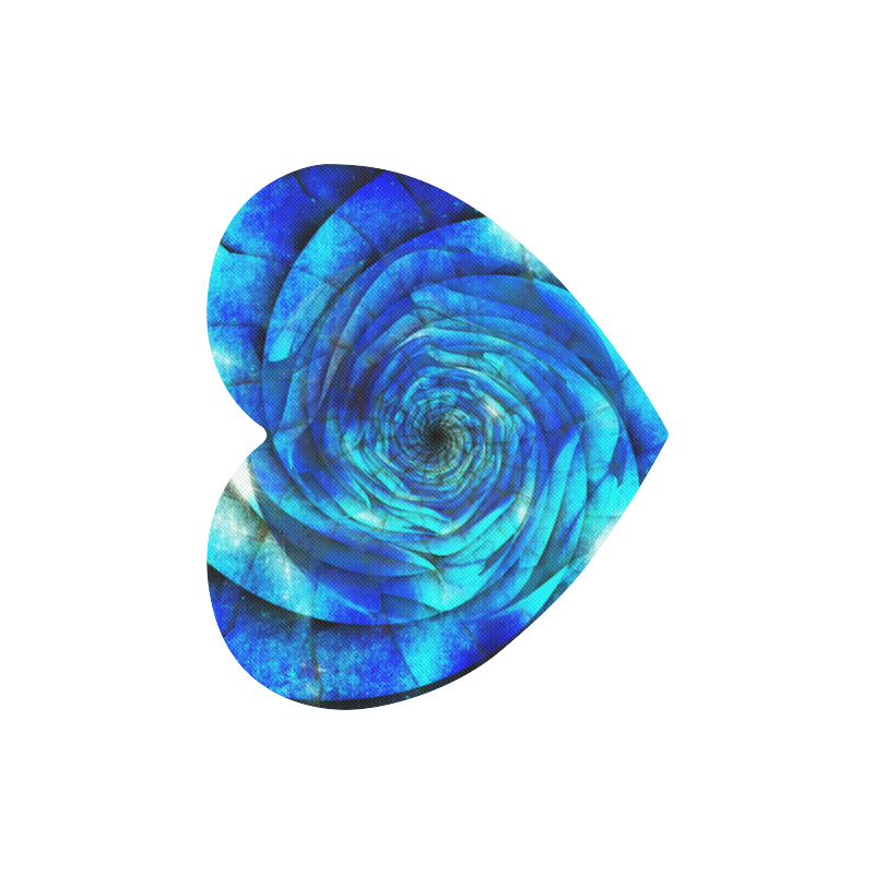 Galaxy Wormhole Spiral 3D - Jera Nour Heart-shaped Mousepad