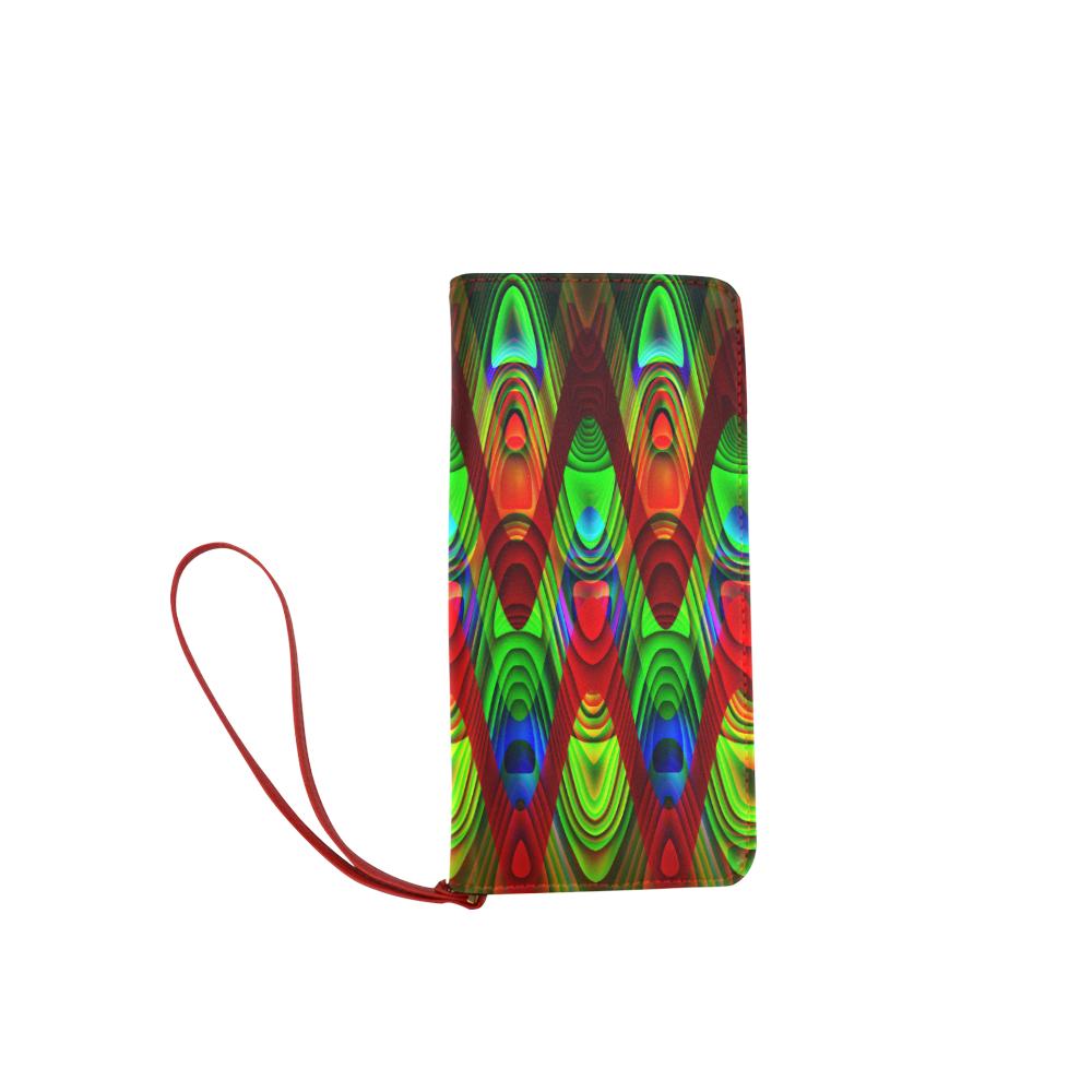 2D Wave #1B - Jera Nour Women's Clutch Wallet (Model 1637)