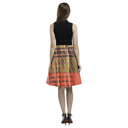 Batik Maharani #6 Vertical - Jera Nour Melete Pleated Midi Skirt (Model D15)