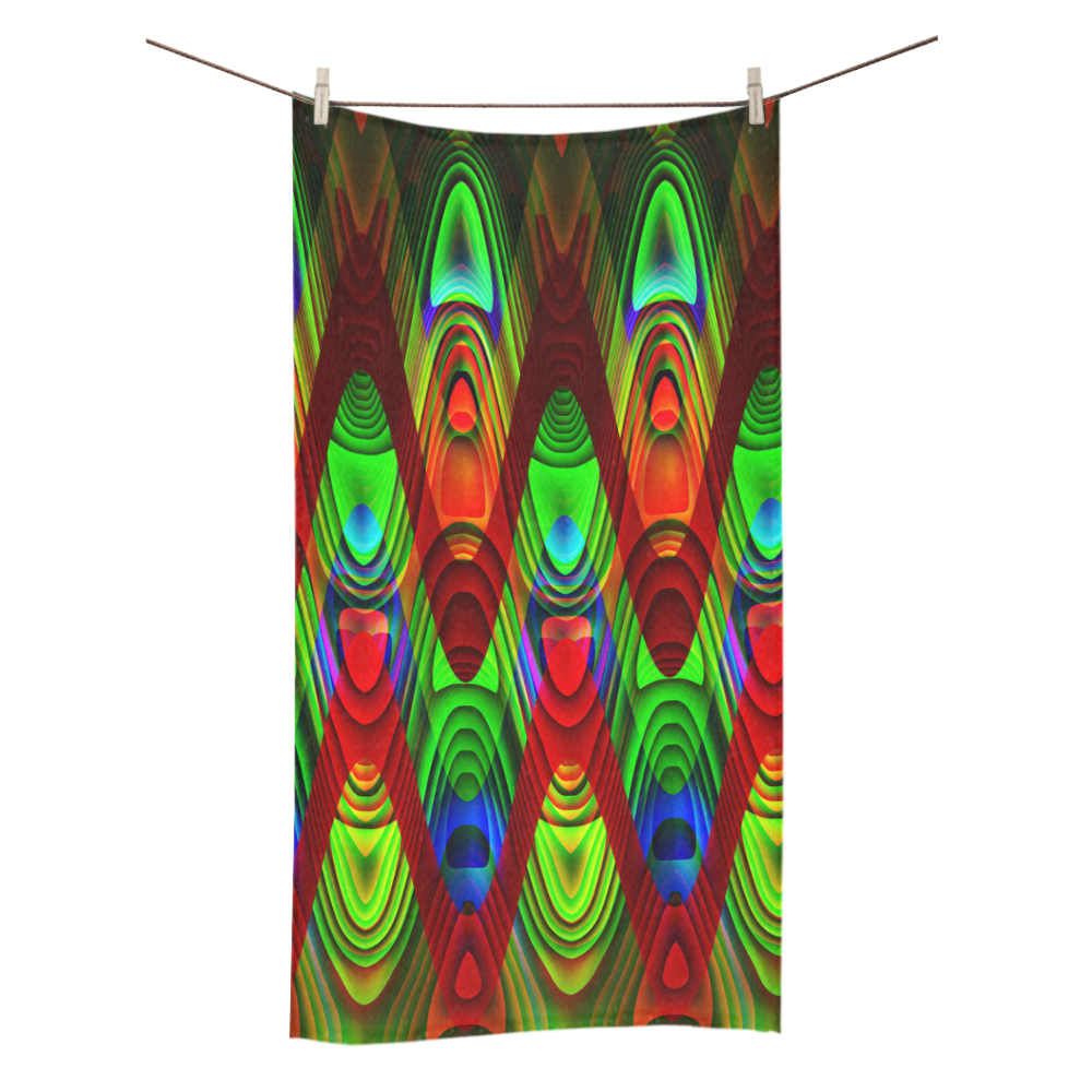 "2D Wave #1B - Jera Nour Bath Towel 30""x56"""