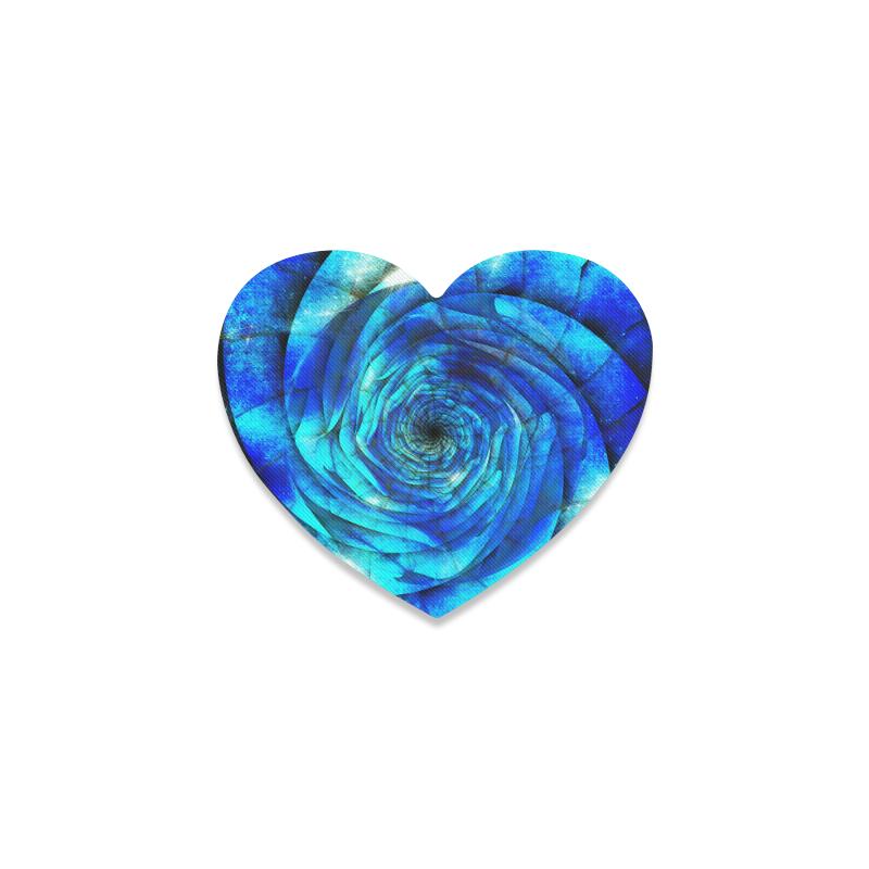 Galaxy Wormhole Spiral 3D - Jera Nour Heart Coaster