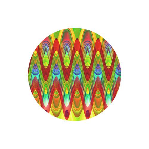 2D Wave #1A - Jera Nour Round Mousepad