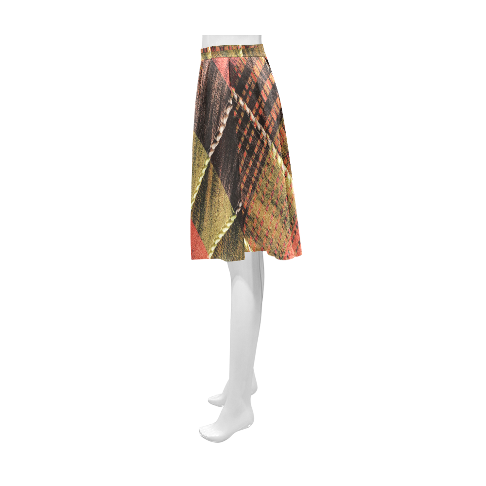 Batik Maharani #6 Vertical - Jera Nour Athena Women's Short Skirt (Model D15)