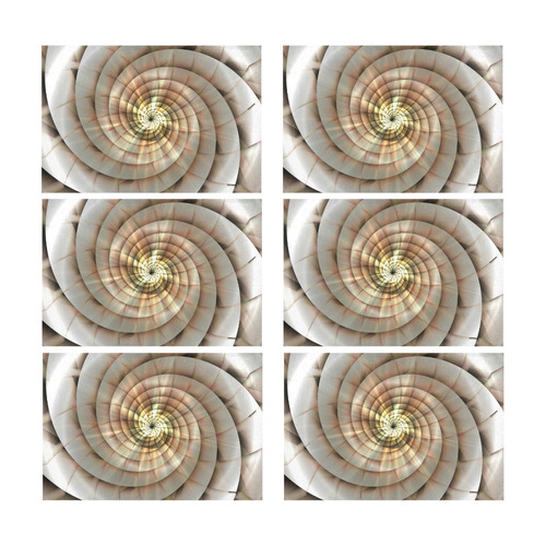 Spiral Eye 3D - Jera Nour Placemat 12'' x 18'' (Six Pieces)