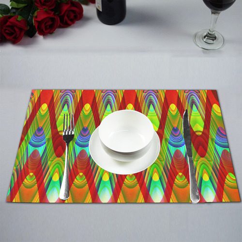 2D Wave #1A - Jera Nour Placemat 12'' x 18'' (Two Pieces)