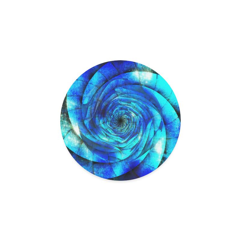 Galaxy Wormhole Spiral 3D - Jera Nour Round Coaster