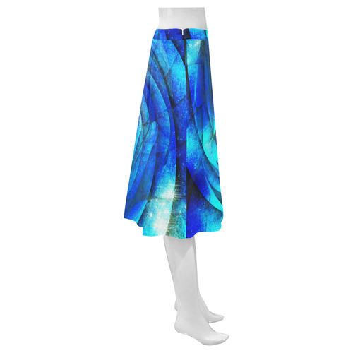 Galaxy Wormhole Spiral 3D - Jera Nour Mnemosyne Women's Crepe Skirt (Model D16)