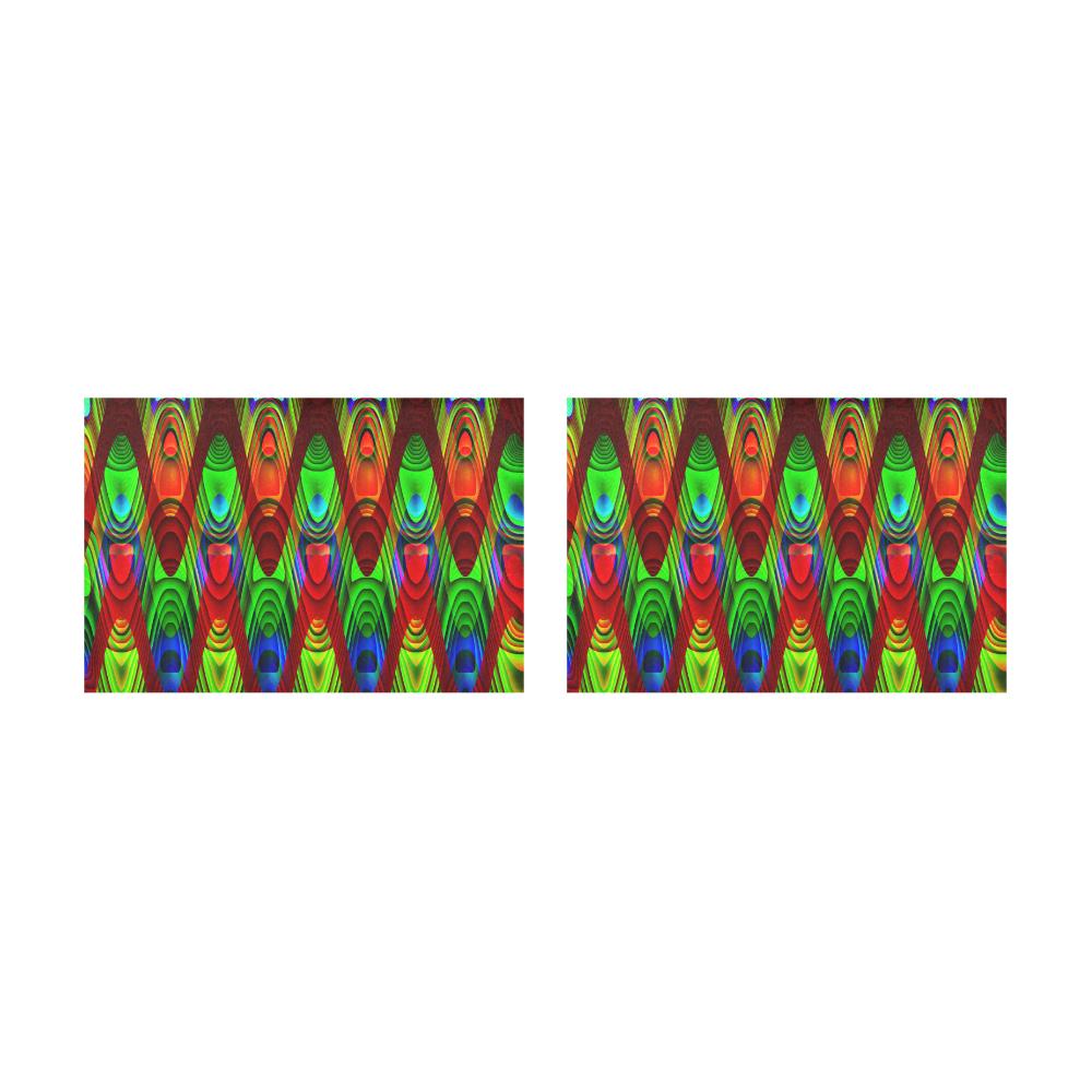 2D Wave #1B - Jera Nour Placemat 12'' x 18'' (Two Pieces)
