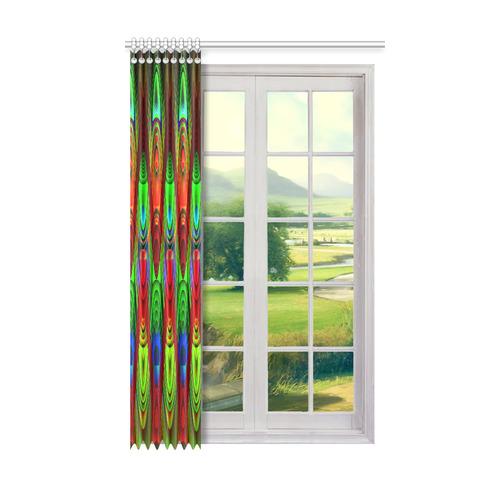 "2D Wave #1B - Jera Nour Window Curtain 50"" x 84""(One Piece)"